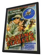 The Fighting Seabees - 11 x 17 Movie Poster - Style A - in Deluxe Wood Frame