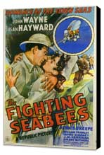 The Fighting Seabees - 11 x 17 Movie Poster - Style A - Museum Wrapped Canvas
