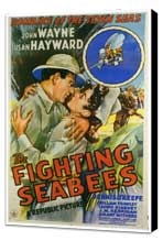 The Fighting Seabees - 27 x 40 Movie Poster - Style A - Museum Wrapped Canvas