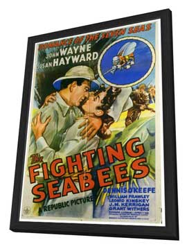The Fighting Seabees - 27 x 40 Movie Poster - Style A - in Deluxe Wood Frame