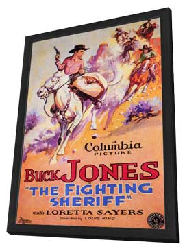 The Fighting Sheriff - 11 x 17 Movie Poster - Style A - in Deluxe Wood Frame