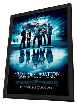 The Final Destination - 27 x 40 Movie Poster - Style E - in Deluxe Wood Frame