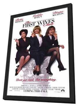 The First Wives Club - 11 x 17 Movie Poster - Style A - in Deluxe Wood Frame