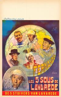 The Five Cents of Lavarede - 27 x 40 Movie Poster - Belgian Style A
