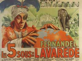 The Five Cents of Lavarede - 11 x 17 Movie Poster - French Style A