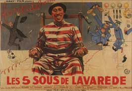The Five Cents of Lavarede - 11 x 17 Movie Poster - French Style C