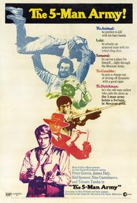 The Five Man Army - 27 x 40 Movie Poster - Style A