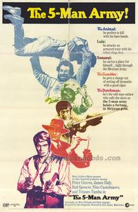 The Five Man Army - 27 x 40 Movie Poster - Style B
