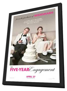 The Five-Year Engagement - 27 x 40 Movie Poster - Style A - in Deluxe Wood Frame