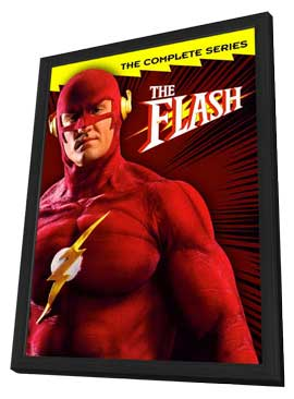 The Flash - 11 x 17 Movie Poster - Style B - in Deluxe Wood Frame