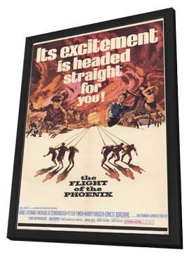 Flight of the Phoenix, The - 11 x 17 Movie Poster - Style A - in Deluxe Wood Frame