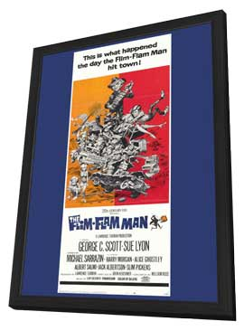 Flim-Flam Man - 11 x 17 Movie Poster - Style B - in Deluxe Wood Frame
