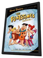 The Flintstones - 11 x 17 Movie Poster - Style C - in Deluxe Wood Frame