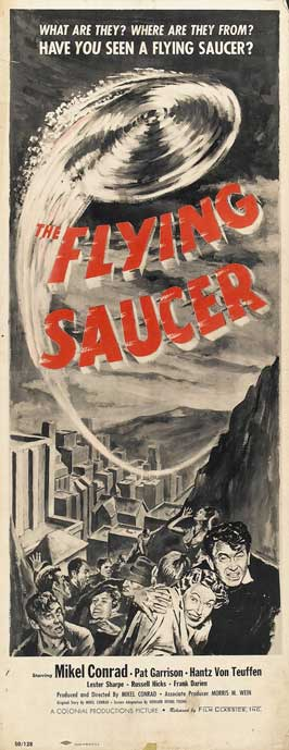 The Flying Saucer - 14 x 36 Movie Poster - Insert Style A