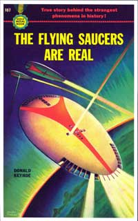The Flying Saucers are Real - 11 x 17 Retro Book Cover Poster