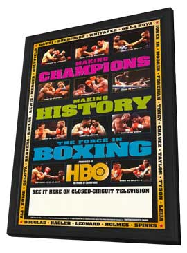 The Force in Boxing - 11 x 17 Boxing Promo Poster - Style A - in Deluxe Wood Frame