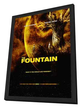 The Fountain - 27 x 40 Movie Poster - Style C - in Deluxe Wood Frame