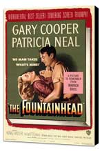 The Fountainhead - 27 x 40 Movie Poster - Style A - Museum Wrapped Canvas