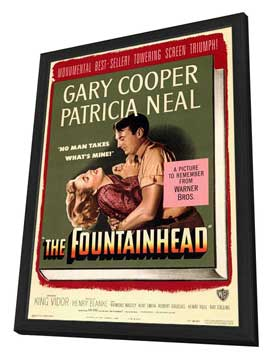 The Fountainhead - 27 x 40 Movie Poster - Style A - in Deluxe Wood Frame