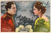 The Four Feathers - 11 x 17 Movie Poster - Spanish Style B