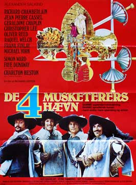 The Four Musketeers - 27 x 40 Movie Poster - Belgian Style A