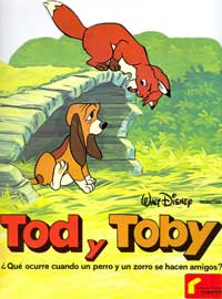 Fox and the Hound, The - 11 x 17 Movie Poster - Spanish Style B