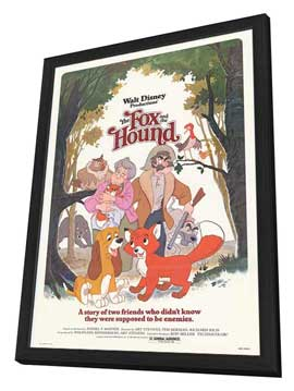 Fox and the Hound, The - 11 x 17 Movie Poster - Style B - in Deluxe Wood Frame