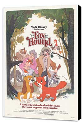 Fox and the Hound, The - 27 x 40 Movie Poster - Style A - Museum Wrapped Canvas