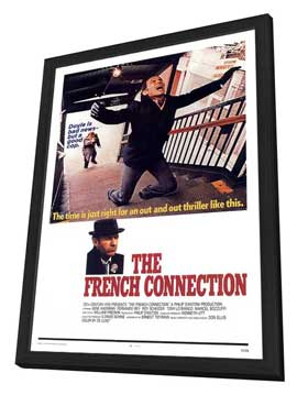 The French Connection - 11 x 17 Movie Poster - Style G - in Deluxe Wood Frame