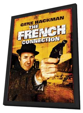 The French Connection - 27 x 40 Movie Poster - Style I - in Deluxe Wood Frame