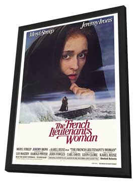 The French Lieutenant's Woman - 27 x 40 Movie Poster - Style A - in Deluxe Wood Frame