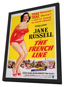 The French Line - 11 x 17 Movie Poster - Style A - in Deluxe Wood Frame