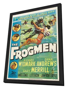 The Frogmen - 27 x 40 Movie Poster - Style A - in Deluxe Wood Frame