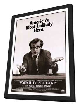 The Front - 27 x 40 Movie Poster - Style C - in Deluxe Wood Frame