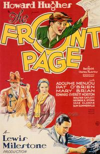The Front Page - 43 x 62 Movie Poster - Bus Shelter Style A