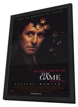The Game - 11 x 17 Movie Poster - Style A - in Deluxe Wood Frame