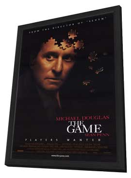 The Game - 27 x 40 Movie Poster - Style A - in Deluxe Wood Frame