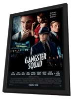 The Gangster Squad - 11 x 17 Movie Poster - Style B - in Deluxe Wood Frame