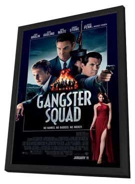 The Gangster Squad - 11 x 17 Movie Poster - Style A - in Deluxe Wood Frame