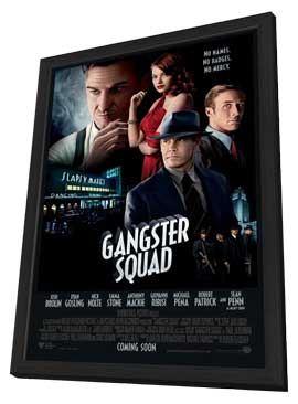 The Gangster Squad - 27 x 40 Movie Poster - Style B - in Deluxe Wood Frame