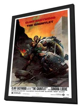 The Gauntlet - 27 x 40 Movie Poster - Style B - in Deluxe Wood Frame