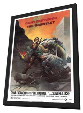 The Gauntlet - 11 x 17 Movie Poster - Style A - in Deluxe Wood Frame