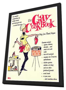 The Gay Cookbook - 11 x 17 Retro Book Cover Poster - in Deluxe Wood Frame