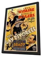 The Gay Divorcee - 11 x 17 Movie Poster - Style A - in Deluxe Wood Frame