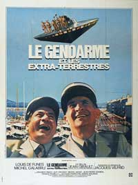 The Gendarme and the Creatures from Outer Space - 11 x 17 Movie Poster - French Style A