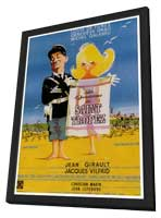 The Gendarme of St. Tropez - 27 x 40 Movie Poster - French Style A - in Deluxe Wood Frame