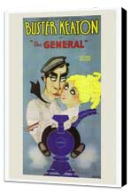 The General - 27 x 40 Movie Poster - Style A - Museum Wrapped Canvas