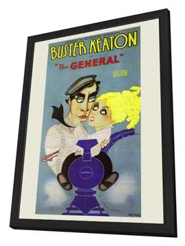 The General - 11 x 17 Movie Poster - Style A - in Deluxe Wood Frame