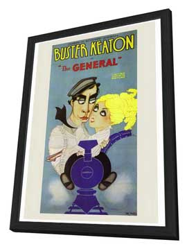 The General - 27 x 40 Movie Poster - Style A - in Deluxe Wood Frame
