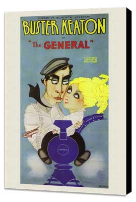 The General - 11 x 17 Movie Poster - Style A - Museum Wrapped Canvas